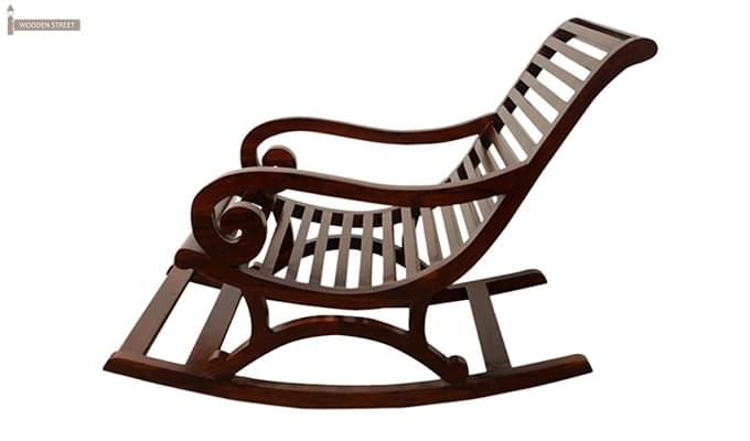 Albin Rocking Chair (Dark Teak Finish)-3