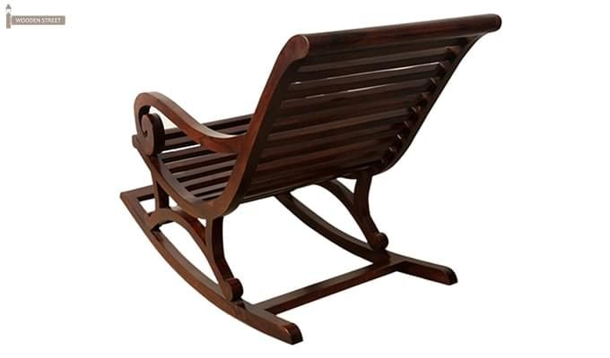 Albin Rocking Chair (Dark Teak Finish)-4