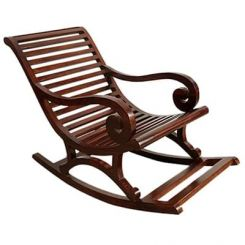 Albin Rocking Chair (Dark Teak Finish)