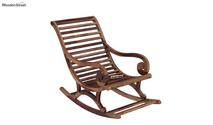 Albin Rocking Chair (Teak Finish)-2