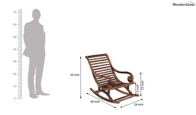 Albin Rocking Chair (Teak Finish)-5