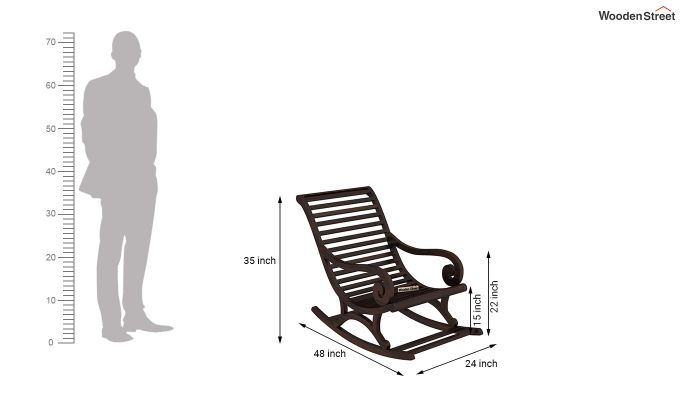 Albin Rocking Chair (Walnut Finish)-5