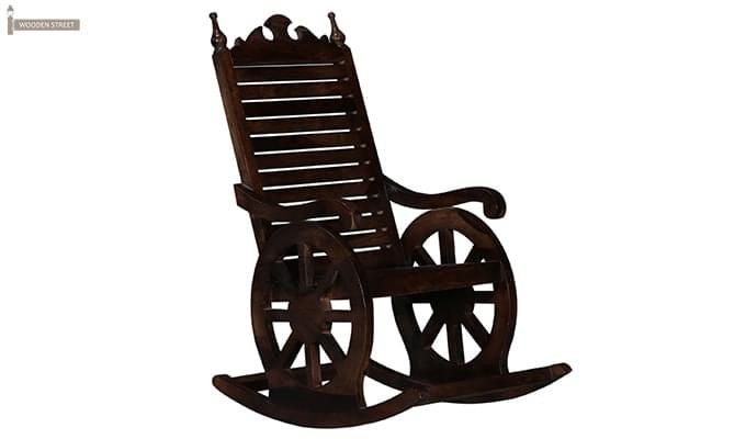 Silvio Rocking Chair (Walnut Finish)-1