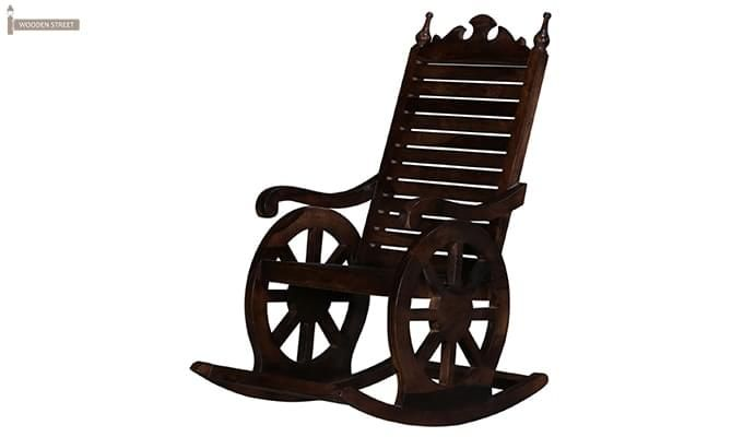 Silvio Rocking Chair (Walnut Finish)-3