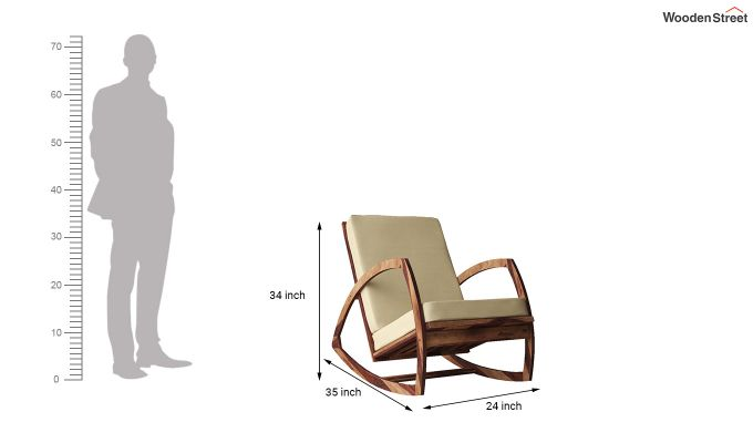 Ferano Easy Chair (Teak Finish)-6