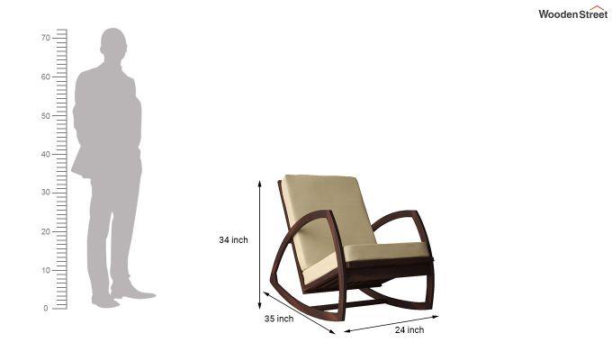 Ferano Easy Chair (Walnut Finish)-6