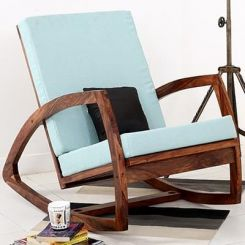 Ferano Easy Chair (Teak Finish)