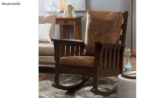Luke Rocking Chair (Walnut Finish)-1