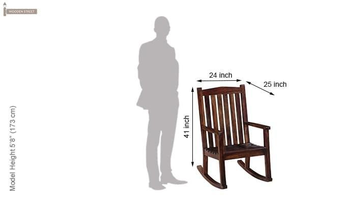 Nobel Rocking Chair (Mahogany Finish)-6