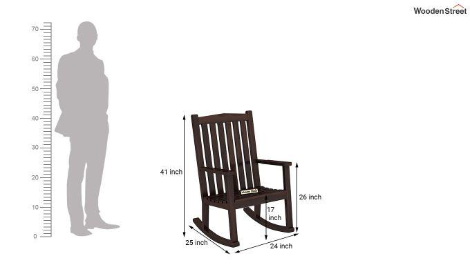 Nobel Rocking Chair (Walnut Finish)-5