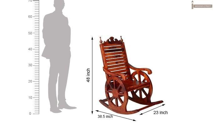 Silvio Rocking Chair (Honey Finish)-6