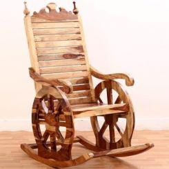 Silvio Rocking Chair (Natural Finish)