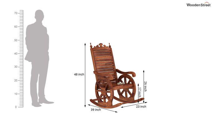 Silvio Rocking Chair (Honey Finish)-5