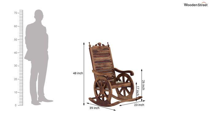 Silvio Rocking Chair (Teak Finish)-5