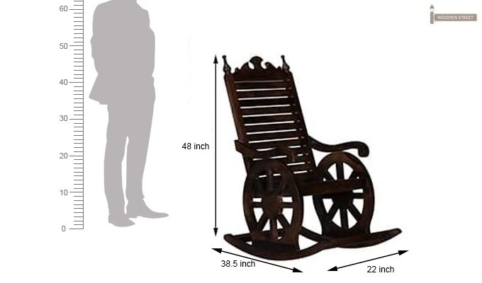 Silvio Rocking Chair (Walnut Finish)-7