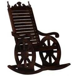 Silvio Rocking Chair (Walnut Finish)