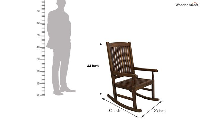 Vino Rocking Chair (Teak Finish)-3