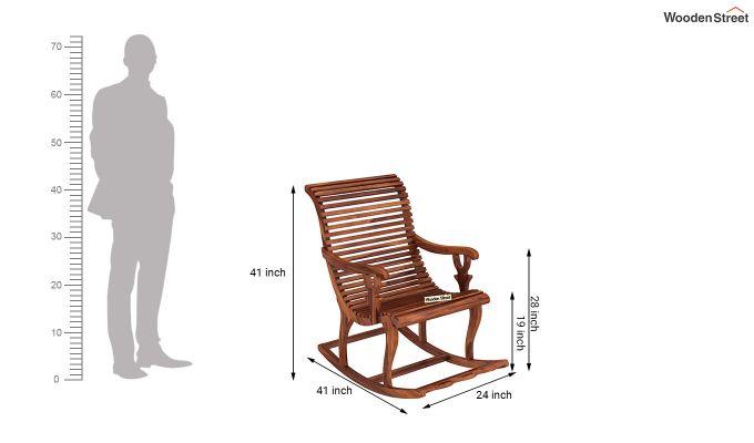 Vivian Rocking Chair (Honey Finish)-7