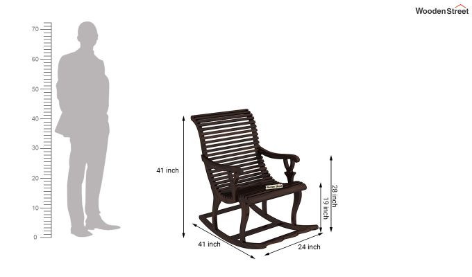 Vivian Rocking Chair (Walnut Finish)-7