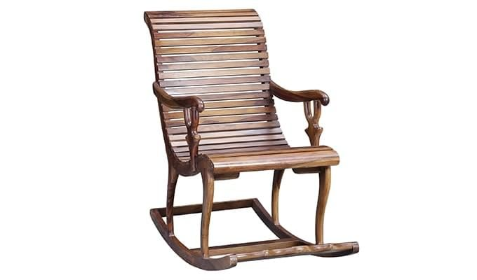 Vivian Rocking Chair (Teak Finish)-1