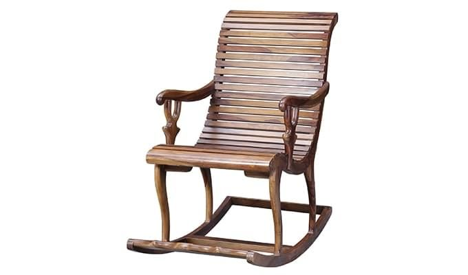 Vivian Rocking Chair (Teak Finish)-3