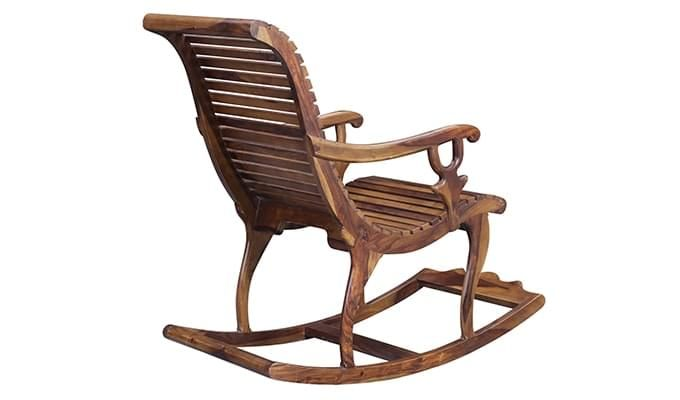 Vivian Rocking Chair (Teak Finish)-5
