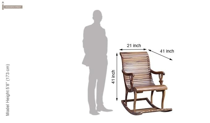 Vivian Rocking Chair (Teak Finish)-7