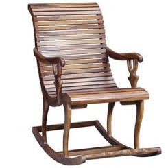 Vivian Rocking Chair (Teak Finish)