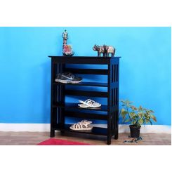 Ashton Shoe Rack (Black Finish)