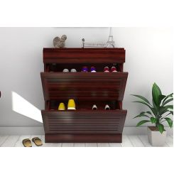 Catlin Shoe Rack (Mahogany Finish)