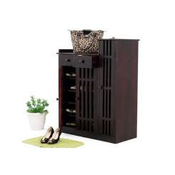 Galina Footwear Rack (Mahogany Finish)