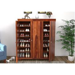 Ruben Shoe Rack (Teak Finish)