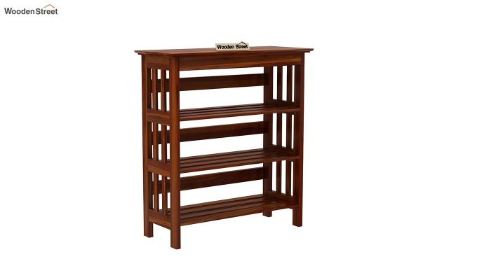 Ashton Shoe Rack (Honey Finish)-3