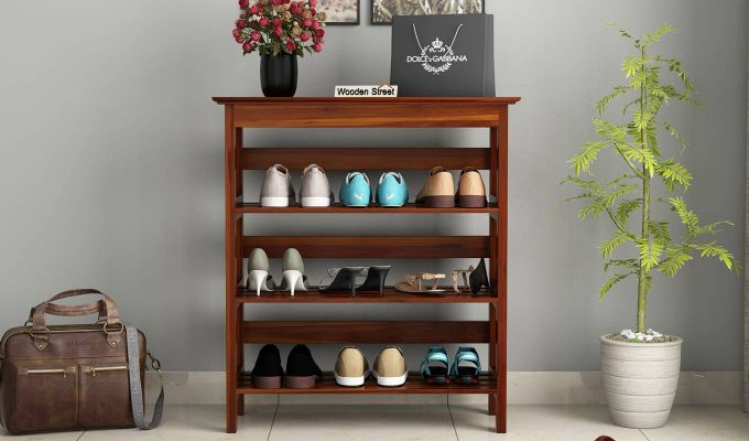 Ashton Shoe Rack (Honey Finish)-2