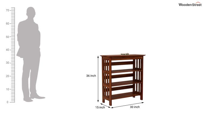 Ashton Shoe Rack (Honey Finish)-5