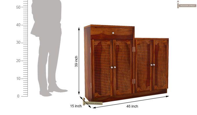 Augur Shoe Rack (Honey Finish)-5