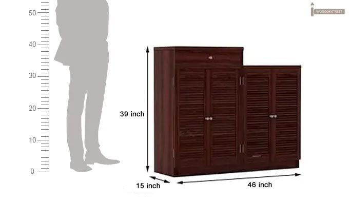 Augur Shoe Rack (Mahogany Finish)-6