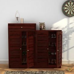 Augur Shoe Rack (Mahogany Finish)