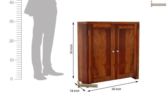 Baconz Footwear Storage Stand (Honey Finish)-4