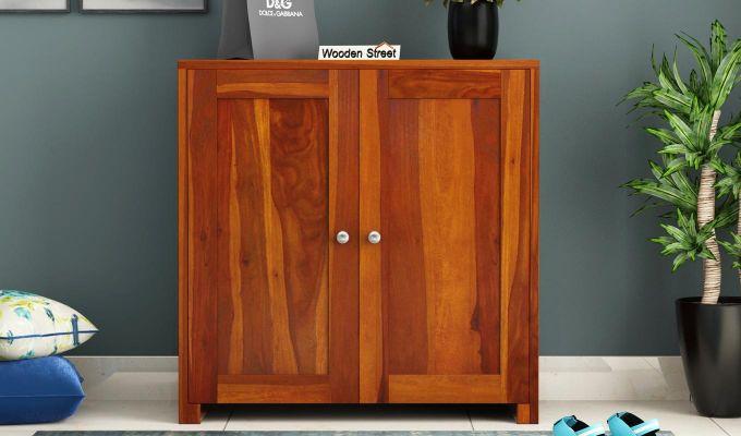 Baconz Footwear Storage Stand (Honey Finish)-1