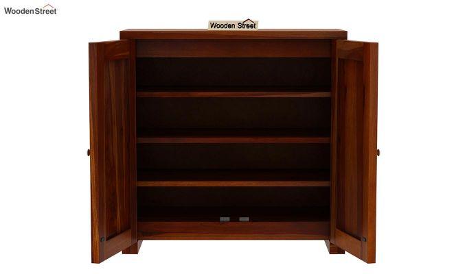 Baconz Footwear Storage Stand (Honey Finish)-6