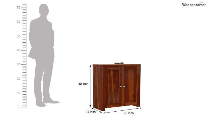 Baconz Footwear Storage Stand (Honey Finish)-7