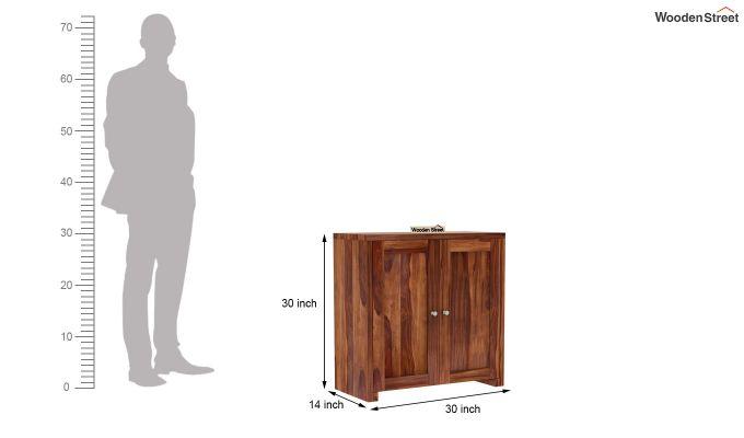 Baconz Footwear Storage Stand (Teak Finish)-7