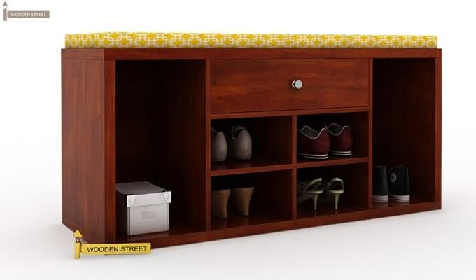 Barclay Shoe Rack (Honey Finish)-4