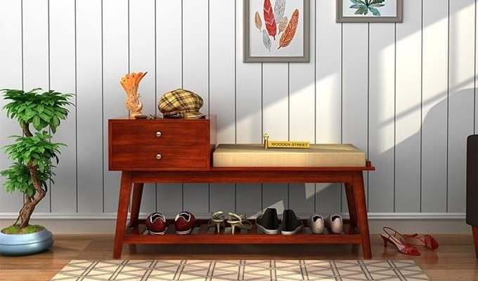 Bernstein Shoe Cabinet (Honey Finish)-1