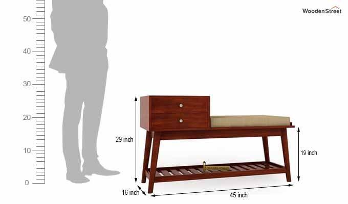 Bernstein Shoe Cabinet (Honey Finish)-5