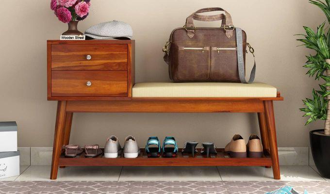 Bernstein Shoe Cabinet (Honey Finish)-2