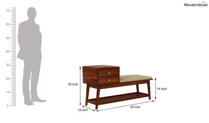 Bernstein Shoe Cabinet (Honey Finish)-6