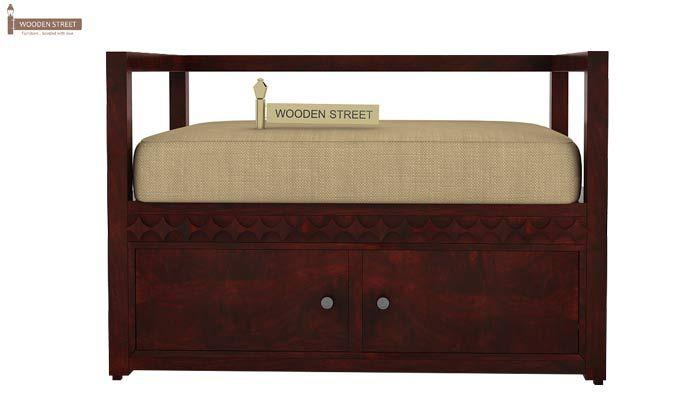 Berwick Designer Shoe Rack (Mahogany Finish)-3