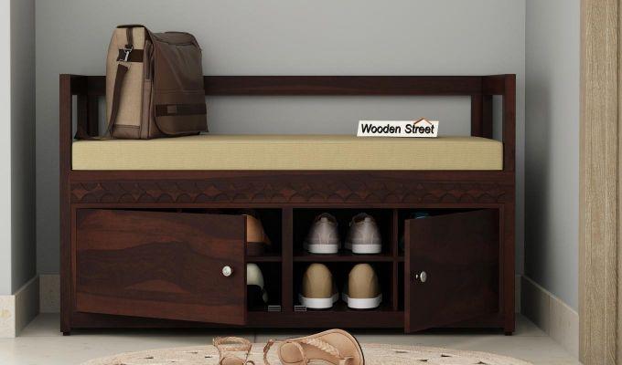Berwick Designer Shoe Rack (Walnut Finish)-1
